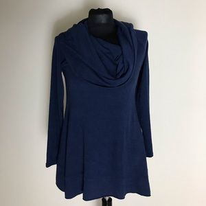 Soft Surroundings Navy Blue Tunic Sweater
